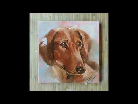 """Картина маслом """"Собака-лучший друг человека"""", художник ..."""