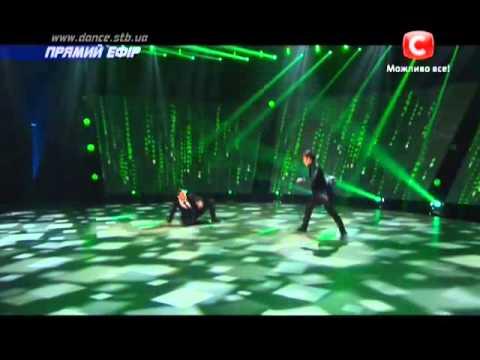 Танцуют все 6 сезон -  Илья и Александр танец Матрица Второй прямой эфир 06.12.2013