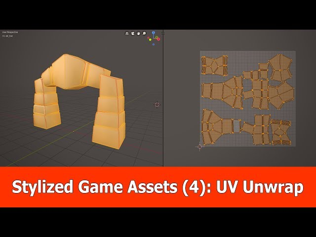 Stylized Game Assets (4): Blender Low Poly UV Unwrap