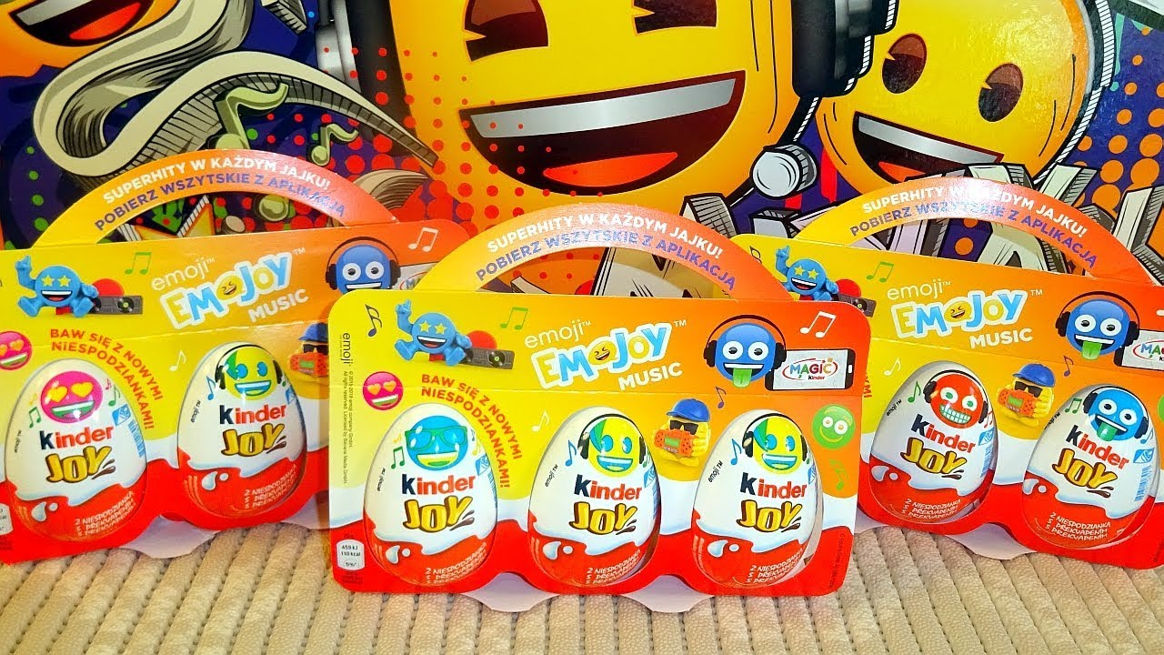 2019 Kinder Joy Emoji Music Surprise Eggs Many Toys Collection Huevos  Sorpresa con Juguetes
