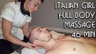 💆 Italian Girl Massage -  ASMR no talking video - whole 46 min
