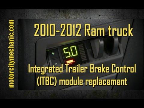 2010 2012 Ram Truck Integrated Trailer Brake Control Itbc