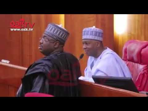Watch The Moment Saraki Sent Dino Melaye Back To His Seat At The Senate (Video)