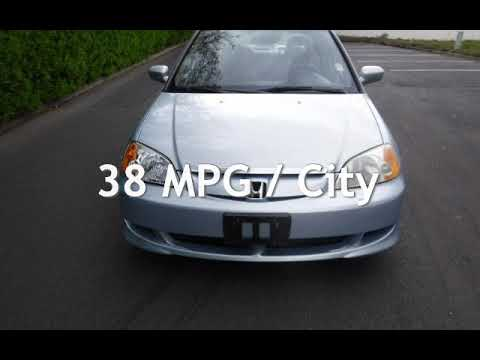 2003 Honda Civic Hybrid * Refurbished Battery * 45 Mpg * 5spd * For Sale In  Tigard, OR