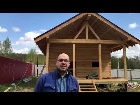 Строительство одноэтажного дома из бруса в Московской области смотреть видео онлайн