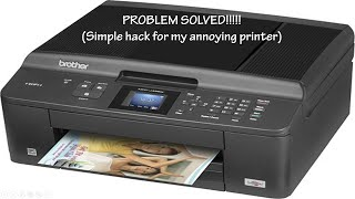 Getting Inspired: PROBLEM SOLVED!!!!!  (Simple hack for my annoying printer)