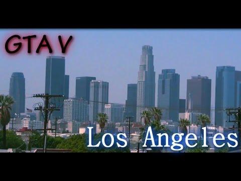GTA V: Los Angeles - Touring Around LA (Comparing Los Santos to Los Angeles)