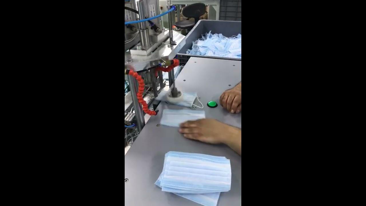 En hızlı yarı otomatik maske lastik makinesi