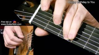 HAPPY BIRTHDAY: Fingerstyle Guitar Lesson + TAB by GuitarNick