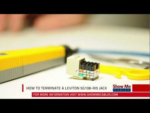 hqdefault how to terminate a leviton 5g108 ri5 cat5e jack youtube leviton gigamax 568 wiring diagram at bayanpartner.co