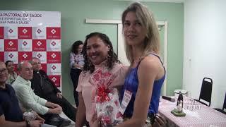Diretora Administrativa do Hospital São Raimundo Helaine Silva Loura Henrique, fala da programação do 5º congresso da Pastoral da Saúde
