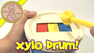 Xylo Drum # 421, 1976 Fisher-Price Toys - Two Musical Toys In One!