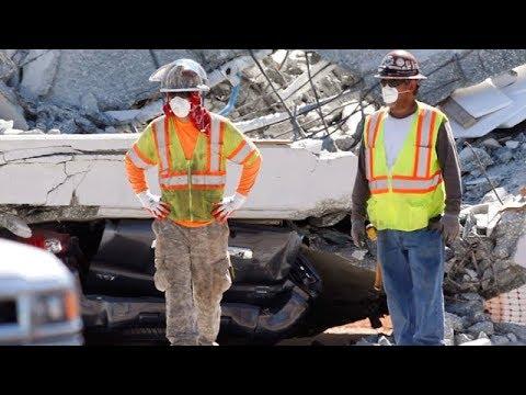 Bridge collapse Miami: Crews search through rubble