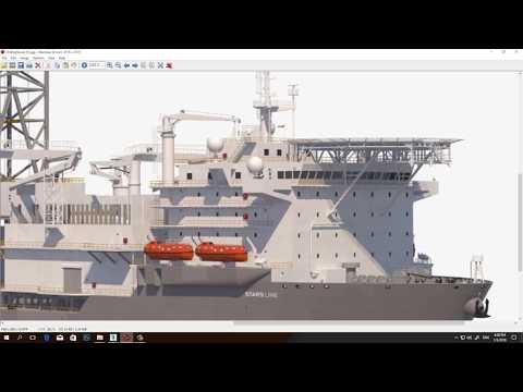 3D Offshore Vessel Modeling Timelapse
