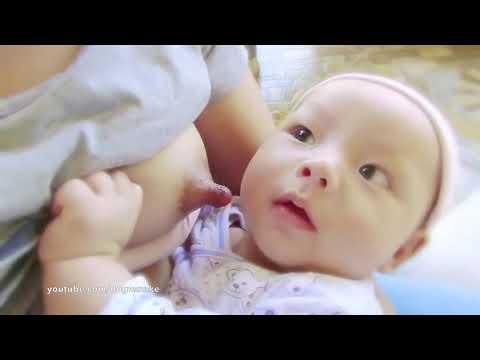 BREASTFEEDING GROWING BABY การเลี้ยงลูกด้วยนมแม่ซ นวดเพิ่มน้ำนมระหว่างลูกดูด 모유 수유 رضاعة طبيعية