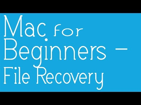 Basics Of Mac - How To Recover Permanently Deleted/ Lost Files On A Macbook Air, Pro, Mac OSX