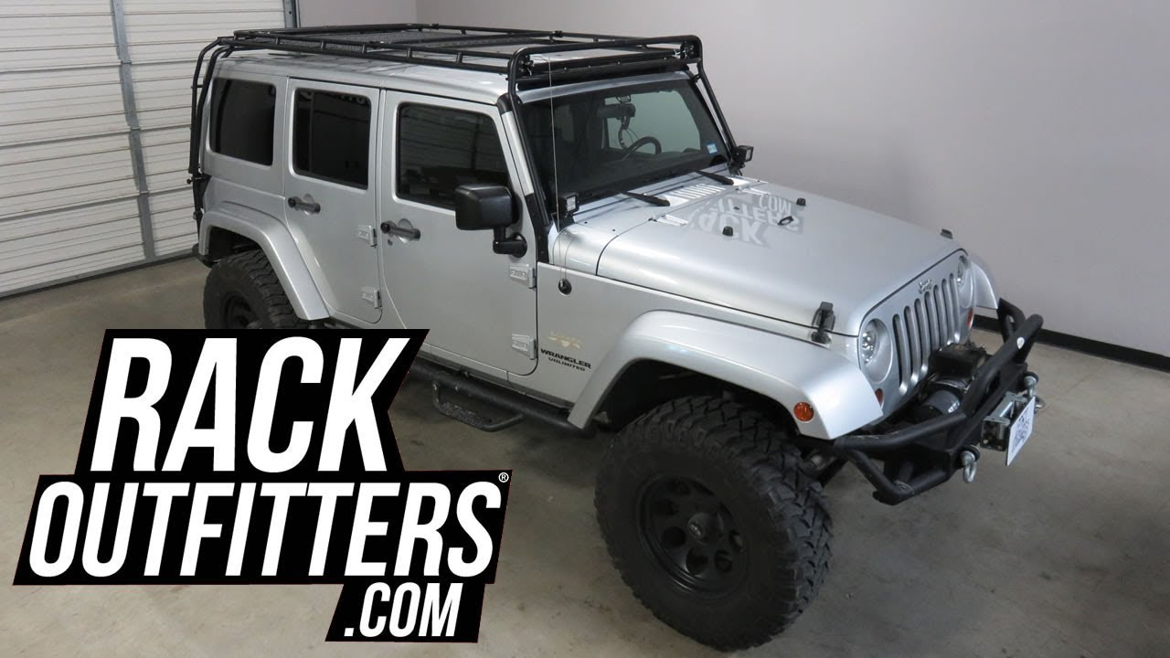 jeep wranger unlimited outfitted with gobi stealth rack by rack outfitters