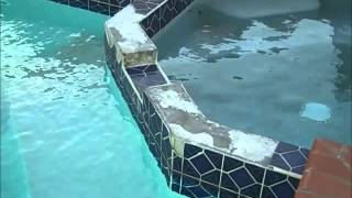 Dallas Home Inspector Shows Missing Pool Tiles | (214) 960-1005 | CALL US!