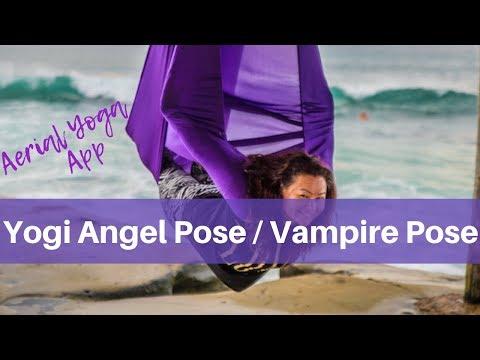 Aerial Yoga Beginner Pose Yogi Angel Vampire Youtube