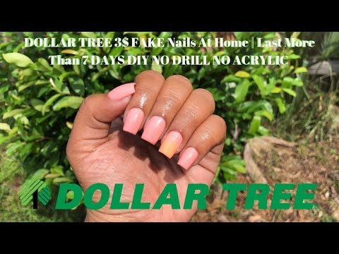 DOLLAR TREE 3$ FAKE Nails At Home | Last More Than 7 DAYS DIY NO DRILL NO ACRYLIC