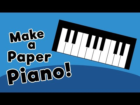 Make a Paper Piano for Kids