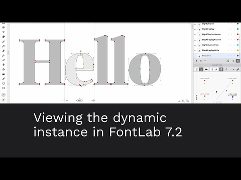 Viewing the dynamic instance in FontLab 7