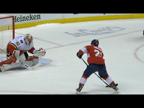 Panthers, Flames take it to a shootout for the win