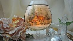 serviettentechnik auf glas