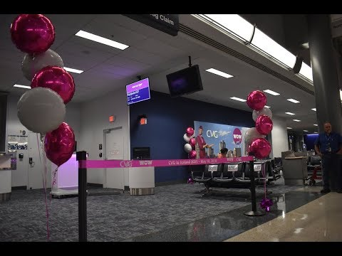 WOW Air Inaugural Flight CVG Airport! || Festivities and Ramp View
