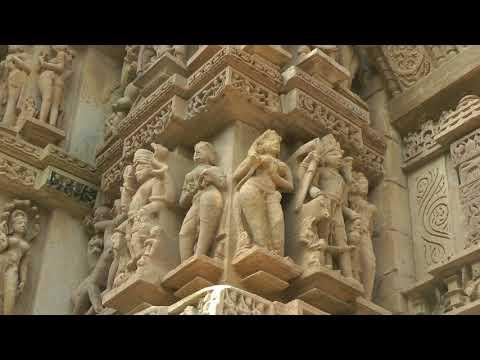 43 Khajuraho Temple Sculptures  video