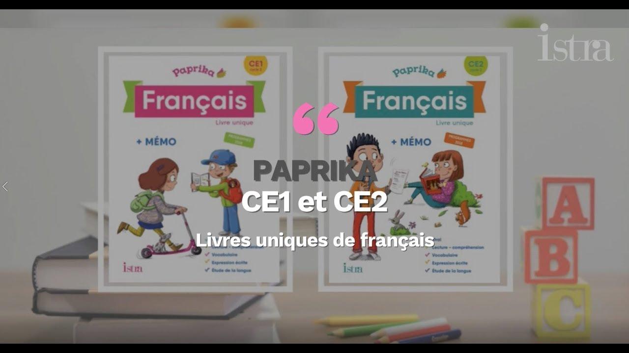 Paprika Ce1 Et Ce2 Livres Uniques De Francais