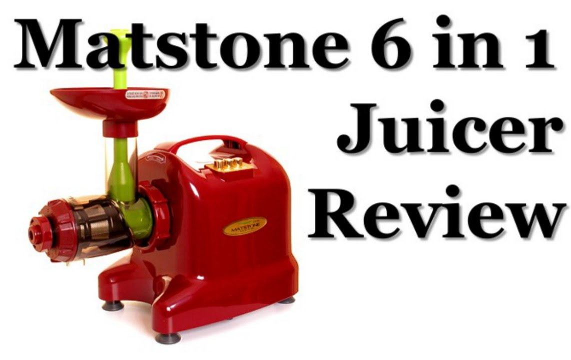 Matstone 6 in 1 Single Auger Juicer in Burgundy Review