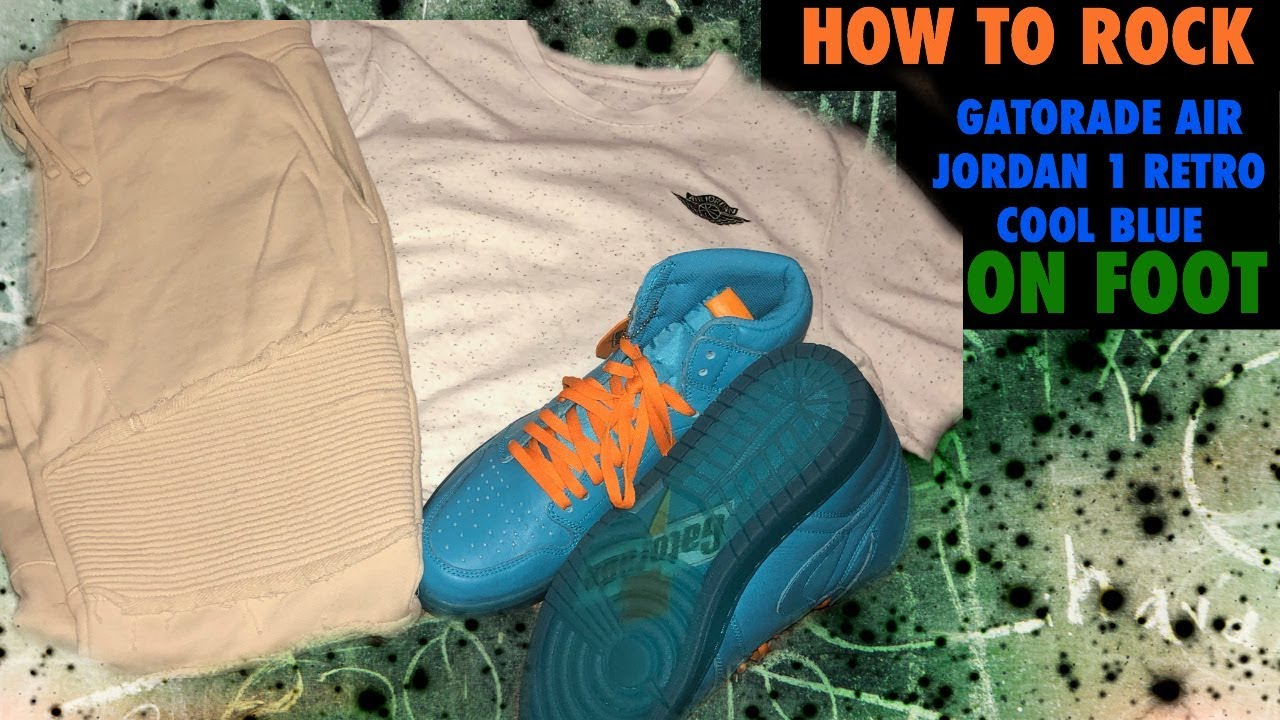 38872e4aa628 HOW TO ROCK Air Jordan 1 Retro G8RD Cool Blue ON FOOT - YouTube