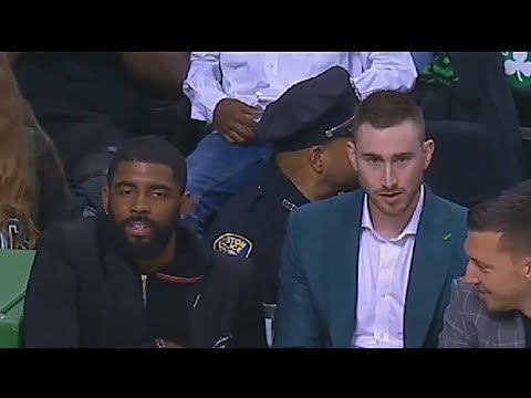 Kyrie Irving and Gordon Hayward Return To Watch Cavaliers vs Celtics Game 1  2018 NBA Playoffs