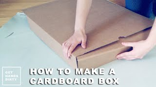 make an easy cardboard box from scratch