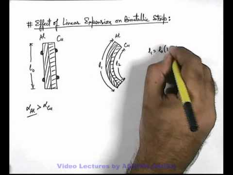 14. Physics | Thermal Expansion | Effect Of Linear Expansion On Bimetallic Strip | Ashish Arora (GA)