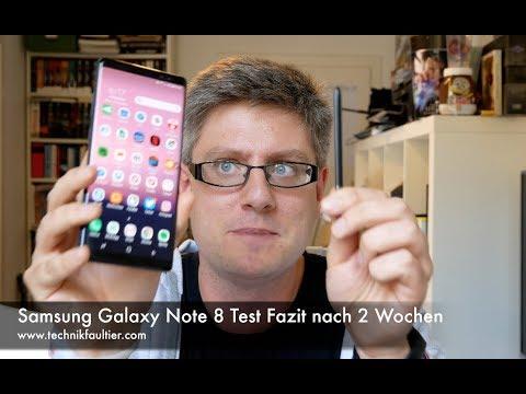 Samsung Galaxy Note 8 Test Fazit nach 2 Wochen