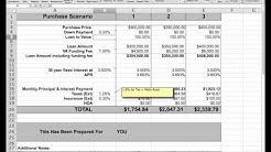VA Loan Comparison Worksheet