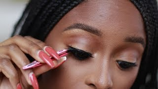How to apply false eyelashes for beginners Basic Step by Step tutorial