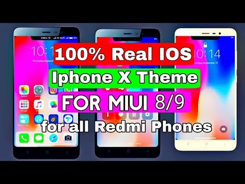 Real IPhone X Theme For Any Redmi Phones