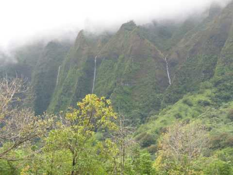 Koolau Mountain waterfalls in Kaneohe Hawaii- Nature photos