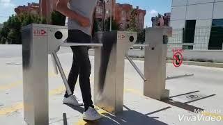 Hadımköy Vefa Konutları Kartlı Turnike Geçiş Sistemi VIP Geçiş Turnikesi Video