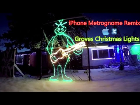 iPhone Metrognome Remix works wonders with Groves Christmas Lights