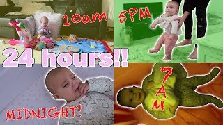 24 HOURS WITH A 7 MONTH OLD BABY!!