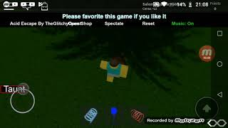 Playing Acid Escape by Theglichyguest Room 1 Complete| ROBLOX