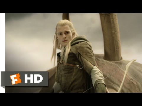 Legolas Slays the Oliphaunt Scene - The Lord of the Rings: The Return of the King Movie (2003) - HD
