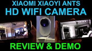 Xiaomi Xiao Yi Ants WiFi HD Camera Night Vision Review Demo Unboxing Security Baby Monitor Cheap