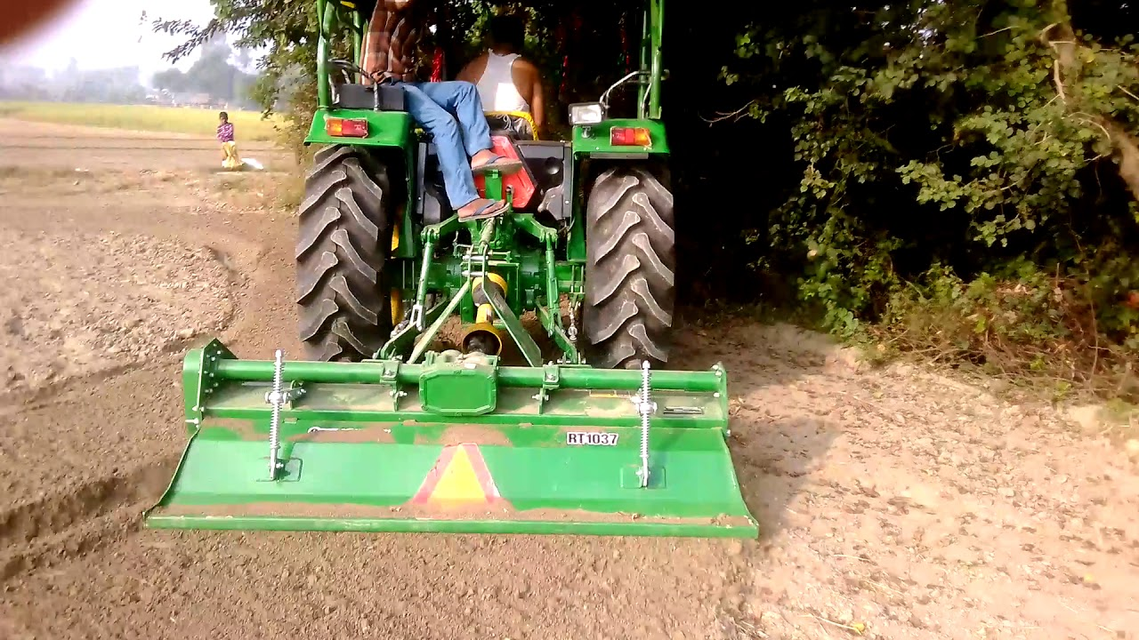 John Deere 5050d with rotavator - Sachin Tiwari