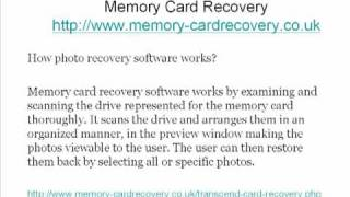 How to do memory card recovery?