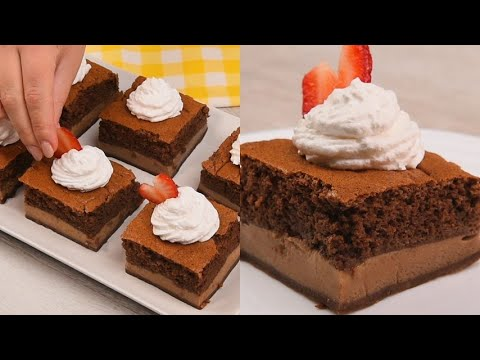 Chocolate magic cake sweet and good ready without yeast